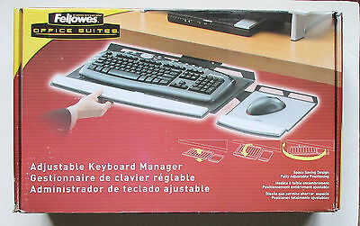 Fellowes Office Suites Adjustable Keyboard Manager Underdesk CRC80313 New NIB