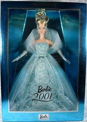 Barbie Doll 2001 NRFB #50841 Blue Dress New Year's Robert Best Collector Edition