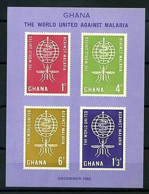 16-10-05783 - Ghana 1962 Mi.  Bl.7 SS 100% MNH The world United against malaria