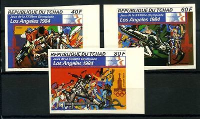 16-10-05777 - Chad 1982 Mi.  - MNH 40% Imperf. Olympic games. Los Angeles 1984