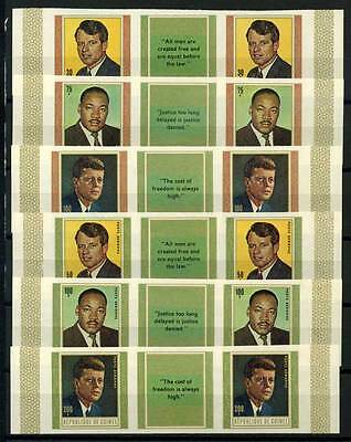 16-10-05723 - Guinea 1968 Mi.  506-511 B MNH 100% Imperf. Martyr of freedom