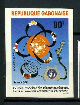 16-10-05693 - Gabon 1987 Mi.  989 MNH 100% Imperf. Telecommunication