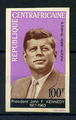 16-10-05677 - Central Africa 1964 Mi.  63 MNH 80% Imperf. President Kennedy.