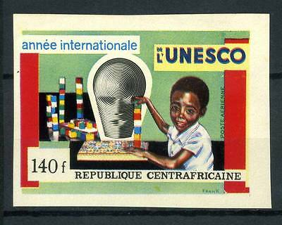 16-10-05648 - Central Africa 1971 Mi.  257 MNH 80% Imperf. UNESCO