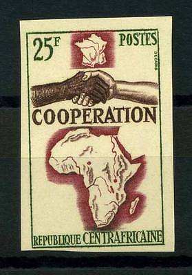 16-10-05609 - Central Africa 1964 Mi.  68 MNH 100% Imperf. Cooperation.
