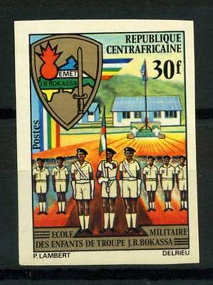 16-10-05591 - Central Africa 1972 Mi.  259 MNH 100% Imperf. Military School J. B