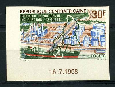 16-10-05562 - Central Africa 1968 Mi.  162 MNH 100% Imperf. Inauguration Raffini