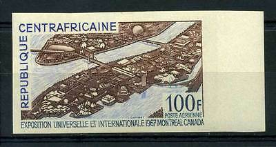 16-10-05555 - Central Africa 1967 Mi.  128 MNH 100% Imperf. EXPO 67