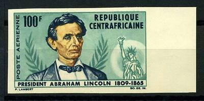 16-10-05547 - Central Africa 1965 Mi.  73 MNH 100% Imperf. Abraham Lincoln