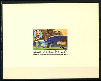 16-10-05478 - Mauritania 1977 Mi.  577 SS 60% Deluxe BL. MNH Clement Ader ''Aeol