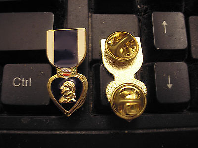 Military Medal Hat Pin - Purple Heart Medal
