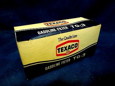 Vintage Texaco Gas Station Tg-3 Gasoline Filter Mint In Box