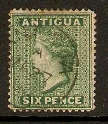 ANTIGUA SG29 1884 6d DEEP GREEN USED