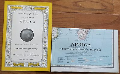 Vintage National Geographic Map and Index: 1943 Africa