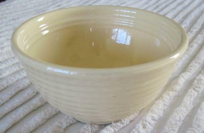 "Bauer Pottery Ring Ware Ringware #30 Cream Color 6.5"" Mixing Bowl California"