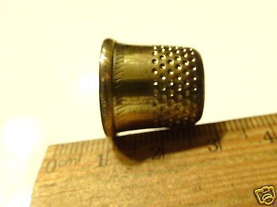 Brass vintage  antique sewing thimble (#810).