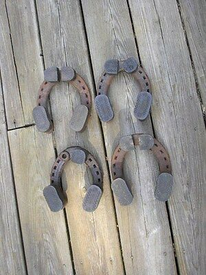 Vntg Phoenix Draft Horseshoes Set Clydesdale Rubber Base, Steampunk, Display