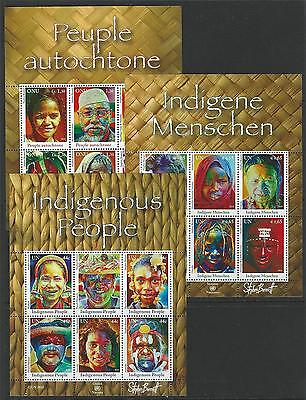 United Nations 2010 Indigenous People MNH Sheets From All 3 Offices