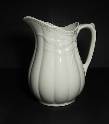 Wilkinson Royal Staffordshire Pottery Ironstone Embossed Wheat Pitcher England