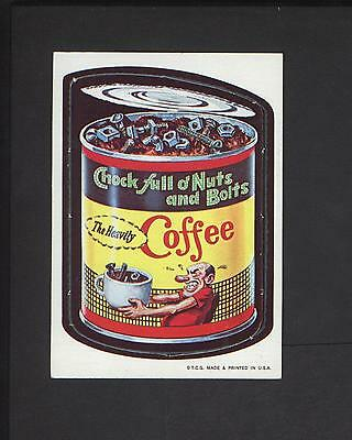 1967 Topps Wacky Packages Die Cut #5 Chock Full of Nuts n Bolts RARE Variation!