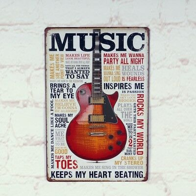 Music Poster Vintage metal Tin signs Antique Home Pub Bar wall decor