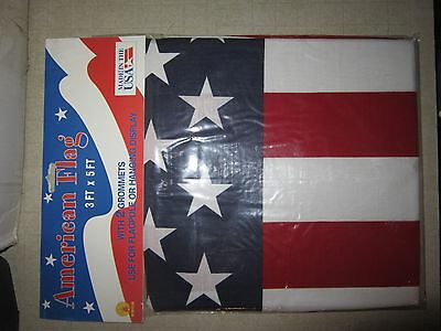 US American Flag 3'x5' Poly/Cotton 100% Made in USA Buy One Get One Free