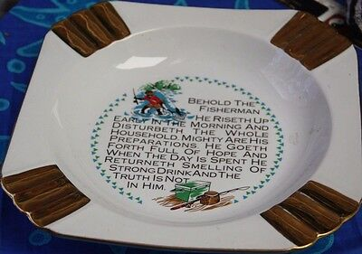 Westminster Fishing Ash Tray Ashtray With Fishing Poem For Fisherman Large