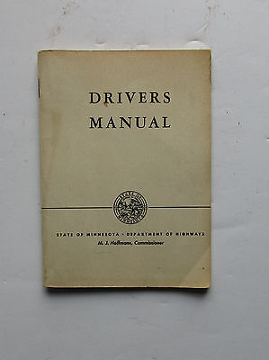 Vintage 1950 State of Minnesota Department of Highways Drivers Manual