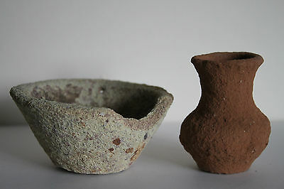 2 ANCIENT GREEK HELLENISTIC VESSELS 4/3rd CENTURY BC