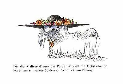 Maltese M - German Dog Print - MATTED / NEW