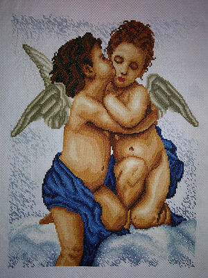 New Finished Completed Cross Stitch - Angel Baby - P192a