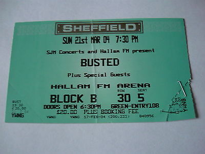 Busted - Unused 2004 Concert Ticket