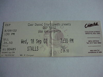 Deep Purple - 2009 Concert Ticket