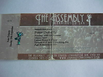 Peter Doherty (The Libertines) - Used Concert Ticket