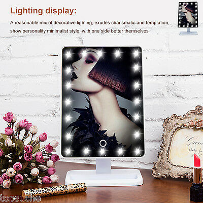 Make-up Bianco LED Illuminato Specchio Touch Screen Regolabile Controsoffitto EU