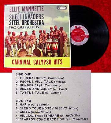LP Ellie Mannette & Shell Invaders Steel Orchestra: 1962 Calypso Hits