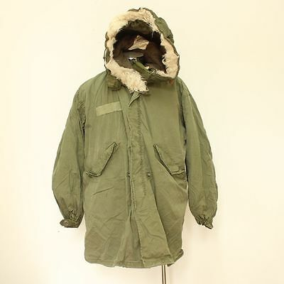 US Army M65 Fishtail Parka with Liner & Hood - Genuine US Issue - Size Medium
