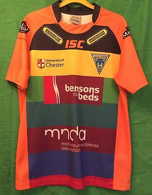 2012 Warrington Wolves Charity Rugby League Shirt Adults Small Top ISC
