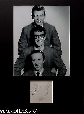 BUDDY HOLLY and the CRICKETS signed autograph PHOTO DISPLAY