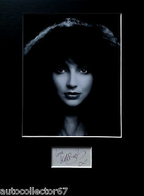 KATE BUSH signed autograph PHOTO DISPLAY Wuthering Heights