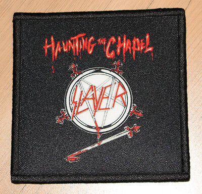 "SLAYER ""HAUNTING THE CHAPEL"" silk screen PATCH"