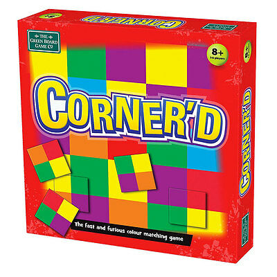 Green Board Games Corner'd Fast Colour Matching Family Game