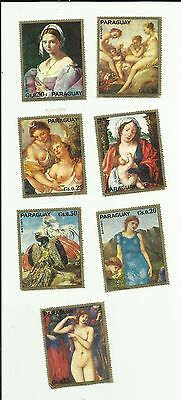Paraguay Art Paintings Mh + Mnh With Gum -  Unknown Date