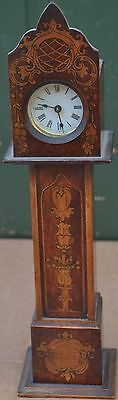 Stunning Looking Fab Decorated Old Miniature Longcase Clock Maybe Watch Stand