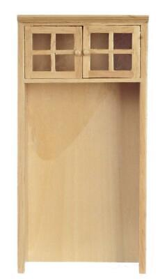 Dolls House Light Oak Fridge Freezer Housing Unit Fitted Kitchen Furniture 1:12