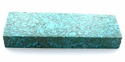 248.6 Gram Carving Block Blue Gold Spiderweb Synthetic Turquoise Cabochon Rough