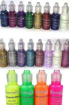 Dovecraft Glitter Glue Brights Pastels Neon 3D Pearl Effects Choose 4 or 8 Craft