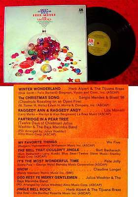 LP Merry Christmas from Herb Alpert & his Friends Claudine Longet Sergio Mendes