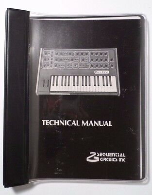 Sequential Circuits Pro One 100 Analog Synthesizer Technical Manual -Original