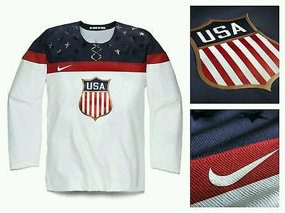 NWT Mens Nike Hockey Jersey USA Collection 2014 Olympic Games Sochi 575592 SZ L